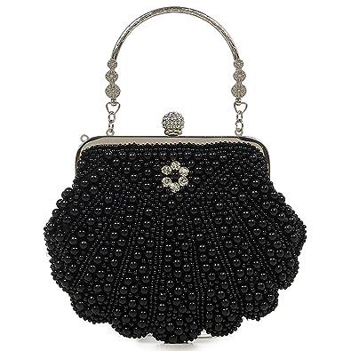 Banned Retro - Cartera de mano de Sintético para mujer, color Negro, talla One Size: Amazon.es: Zapatos y complementos