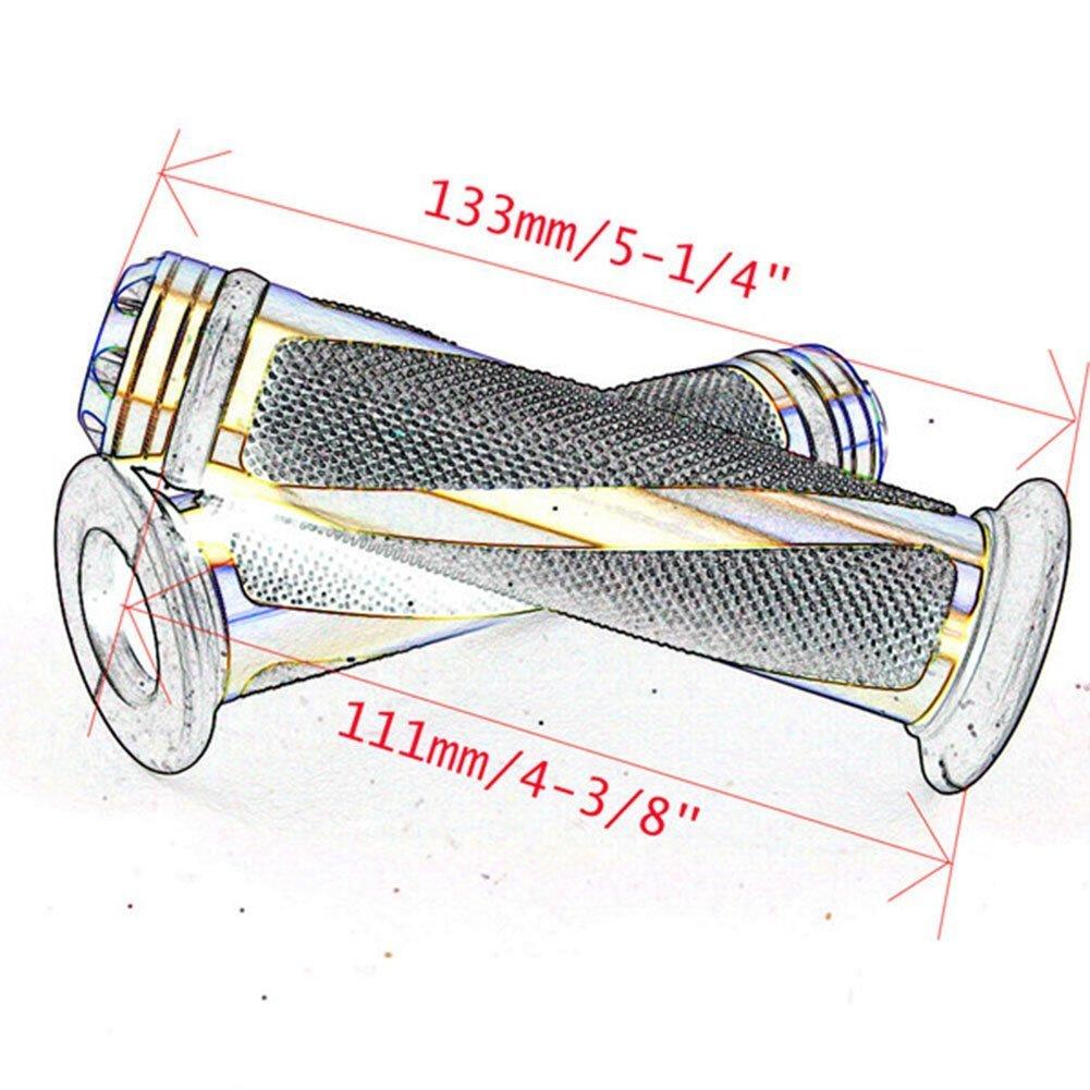 Bonnoeuvre Par 7//8 Motocicleta Perillas Motocicleta Universal Pu/ño Acoples de Manillar Moto Manillar Aluminio Azul