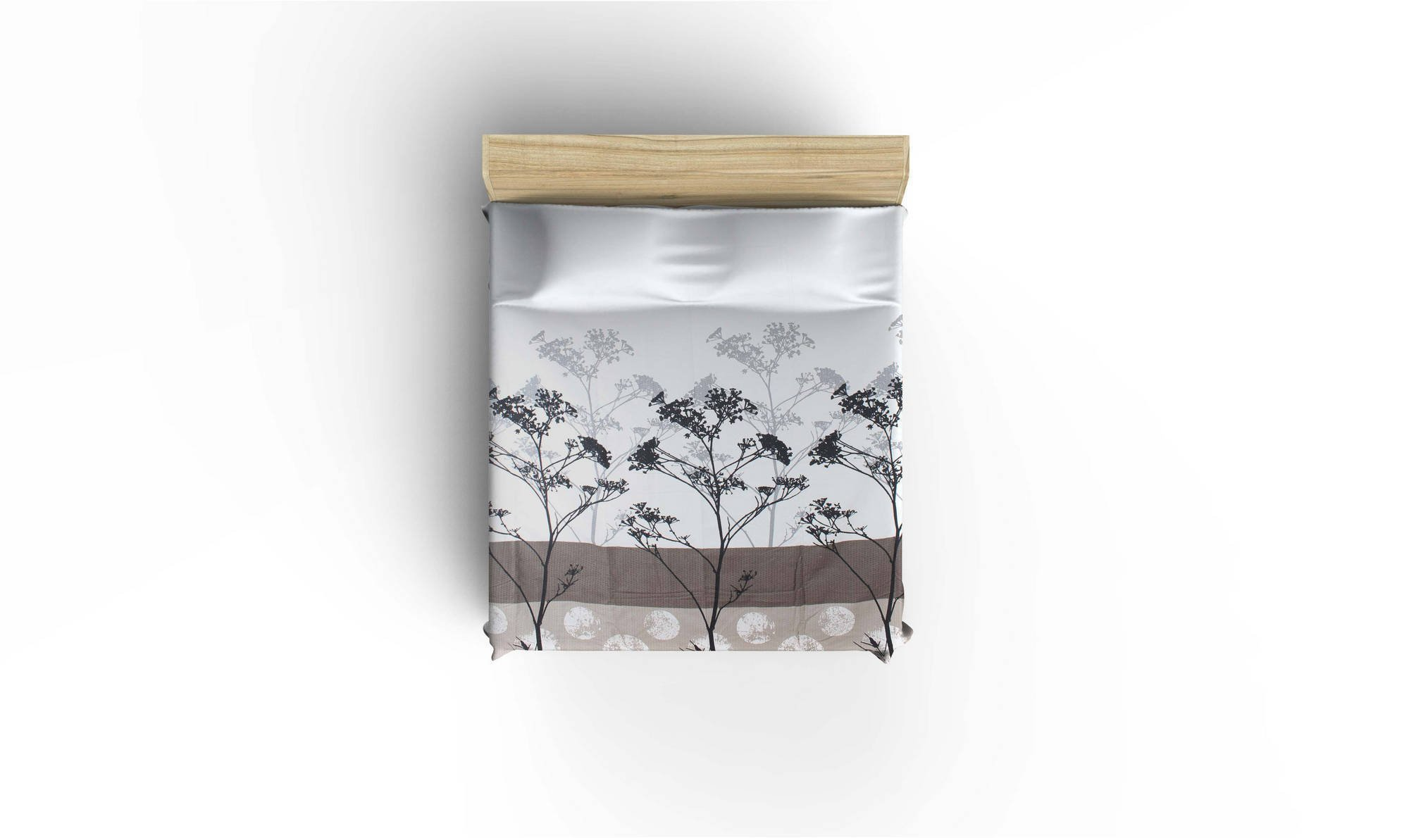 LaModaHome Luxury Soft Colored Twin and Single Bedroom Bedding 100% Cotton Single Coverlet (Pique) Thin Coverlet Summer/Blue Background Owl Bird Flower Daisy Plant Nature Animal by LaModaHome