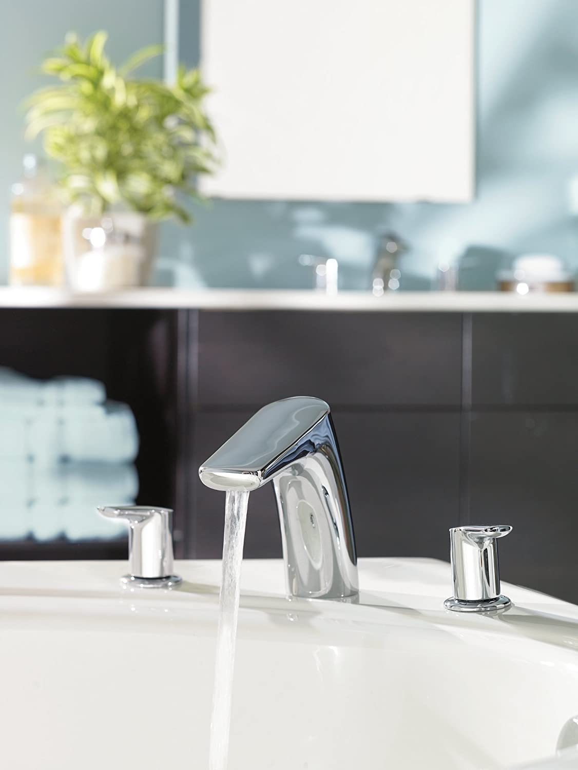 Moen T986BN-4792 Method Two-Handle Low Arc Roman Tub Faucet with ...