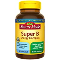 Nature Made Super B Energy Complex Softgels, 60 Count for Metabolic Health† (Packaging...