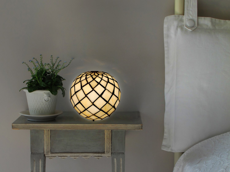 Arte Dal Mondo THA1816, Perlenkugel Nachttischlampe Glas im tiffany ...