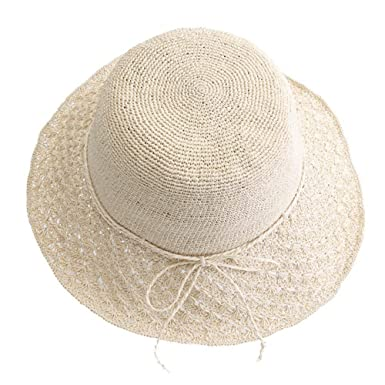 HX fashion Moda Plegable para Mujer Sombrero De Sol Ocio Sombrero De Basic  Paja Viaje Al A  Amazon.es  Ropa y accesorios f9c759ad76ac
