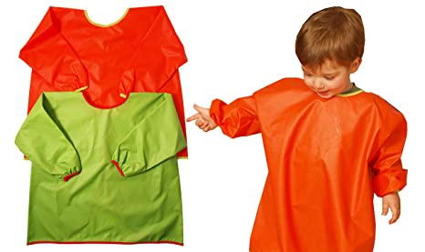 Ti TIN Pack 2 Baberos Batas Impermeables para Bebé/Transpirables/100% Poliuretano/