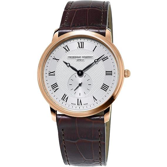 Frederique Constant Reloj de Hombre Cuarzo Suizo 37mm FC-235M4S4: Amazon.es: Relojes