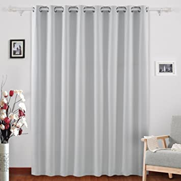 Attractive Deconovo Blackout Room Darkening Thermal Insulated Wide Panel Curtains For  Bedroom 100 X 84 Inch Platinum