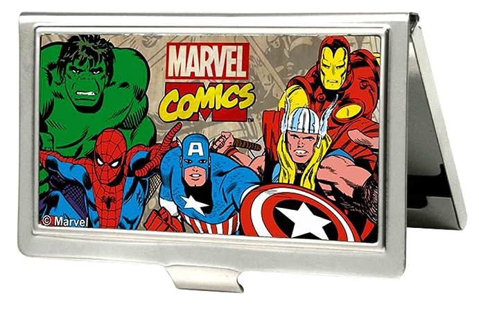 Amazon marvel comics logo w characters fcg business card holder marvel comic business card holder colourmoves