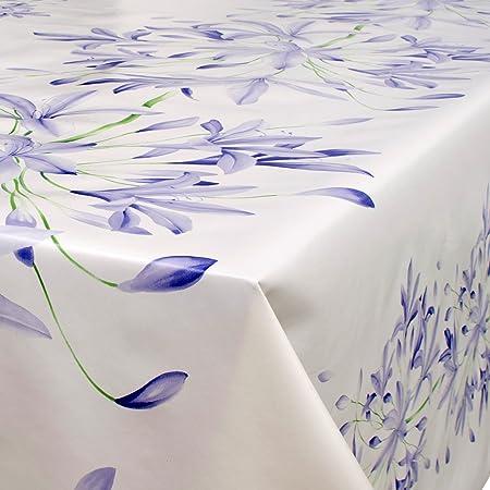 ANRO Hule mesa mantel de hule lavable Lirios en blanco Tamaño a ...