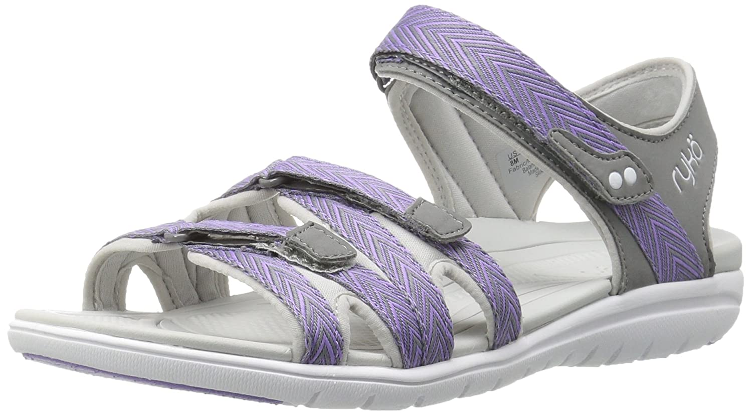 Ryka Women's Savannah Sandal B01KWH6JU0 8.5 B(M) US|Grey/Purpl