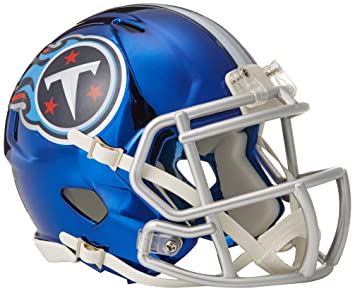 c7f395ea047 Riddell Tennessee Titans NFL Chrome Alternate Speed Mini Helmet ...