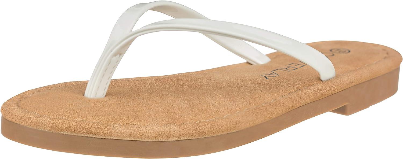 CLOVERLAY Girls Kids Summer Comfort Casual Thong Flat Flip Flops Sandals Slipper