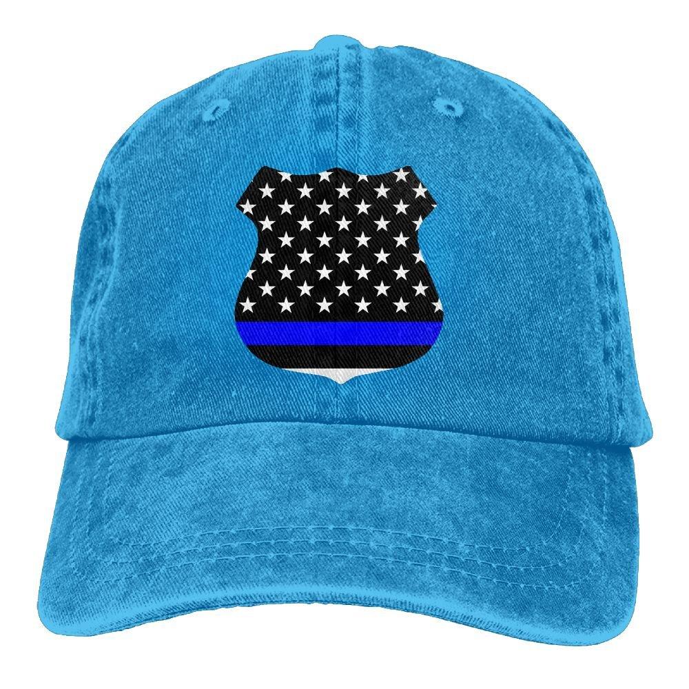 7a37dd242ca09 Amazon.com  Arsmt Police Thin Blue Line Denim Hat Adjustable Women s  Tactical Baseball Caps  Clothing