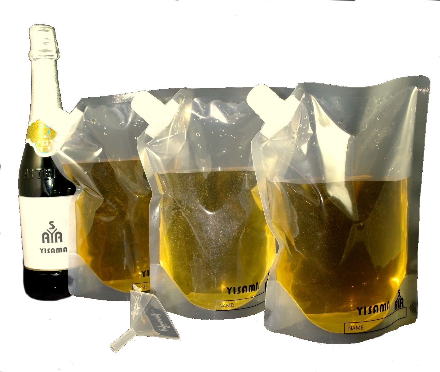 soft flasks plus a small funnel YISAMA Rum Runner Flasks Cruise Kit 470 ml 235 ml /& 1 pcs - 16 oz. Set includes: 1 pcs - 32 oz. 940 ml - 8 oz. 2 pcs