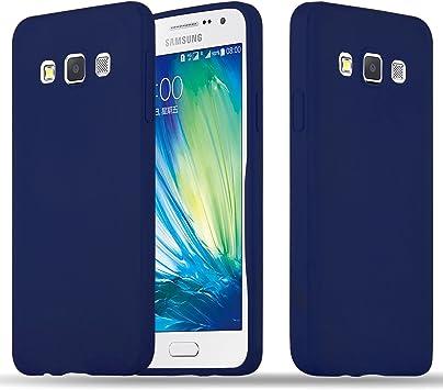 Cadorabo Coque pour Samsung Galaxy A3 2015 en Candy Bleu FONCÉ - Housse Protection Souple en Silicone TPU avec Anti-Choc et Anti-Rayures - Ultra Slim ...