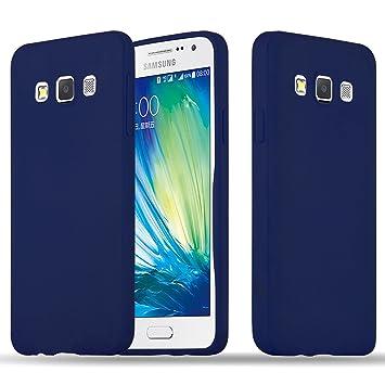 Cadorabo Funda para Samsung Galaxy A3 2015 en Candy Azul Oscuro – Cubierta Proteccíon de Silicona TPU Delgada e Flexible con Antichoque – Gel Case ...