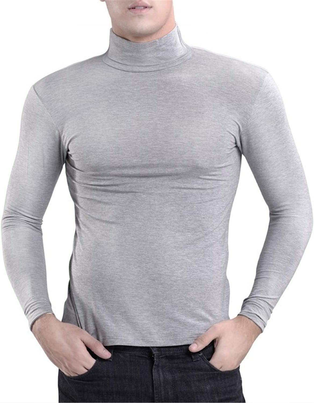 Cuello Alto de algodón Ropa Interior térmica Hombres Tallas Grandes Tops Largos Cuello Alto Mangas largas Hombres Camisetas elásticas Altas: Amazon.es: Deportes y aire libre