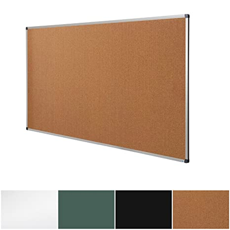 AmazonCom  Cork Notice Pin Board  Aluminum Framed Memo Board For