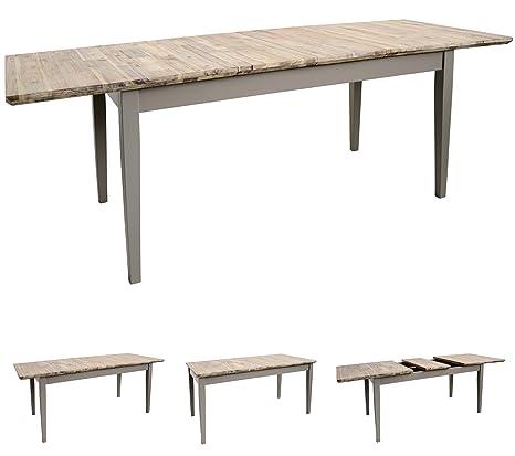 Amazon.com: Florencia mesa Rectangular grande extensible ...
