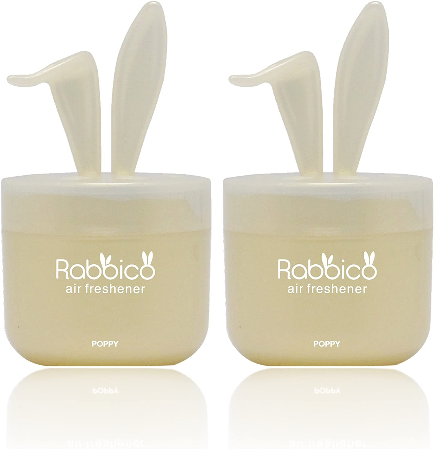 High Premium Quality RABBICO Sweet 2 Packs (Rabbit Lovely Ears Shape) Car, Home, Office Air Freshener White Musk Scent - Beautiful Mix of Floral Fruity Musk fragrances