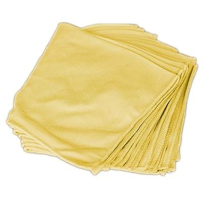 Towels by Doctor Joe DJMF5300-Y Yellow 16 Inch x 16 Inch, (Pack of 12) Microfiber Towel, 12 Pack: Automotive