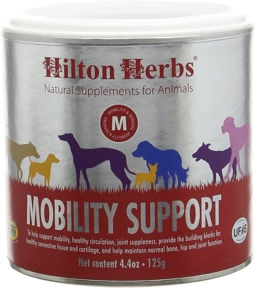 Hilton Herbs Canine Mobility Support Supplement for Optimum Joint Health in Dogs, 4.4 oz Tub