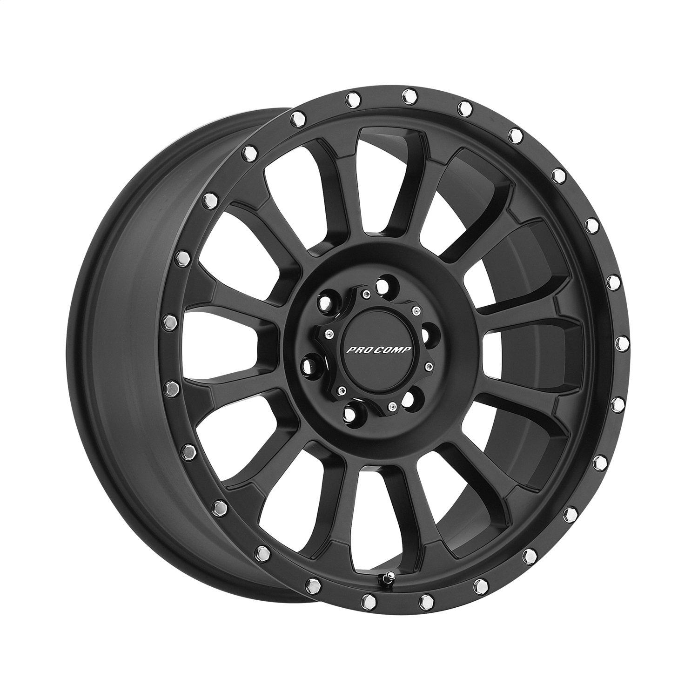 Pro Comp Alloys Series 34 Rockwell Wheel with Satin Black Finish (18x9''/6x5.5'')