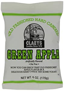 Claey's Green Apple Drops, 6-Ounce Packages (Pack of 12)