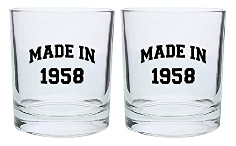 60th Birthday Gifts For Dad Mom Made In 1958 Funny Party Supplies Gift Lowball