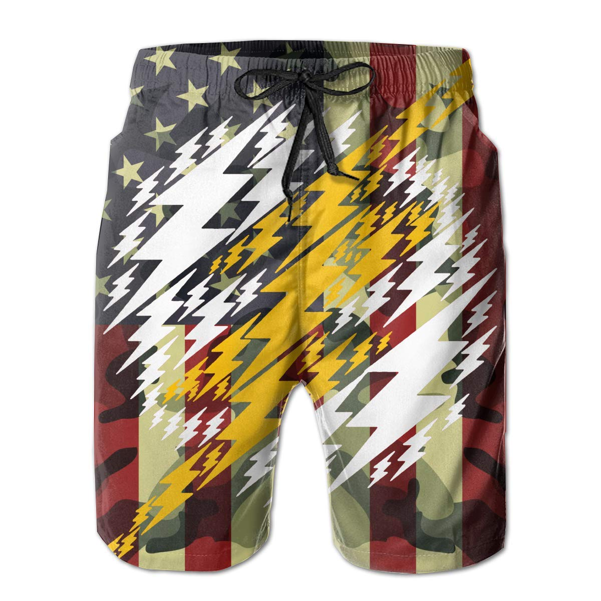 DDYJ Meta Flash Boardshorts Mens Swimtrunks Fashion Beach Shorts Casual Shorts Swim Trunks