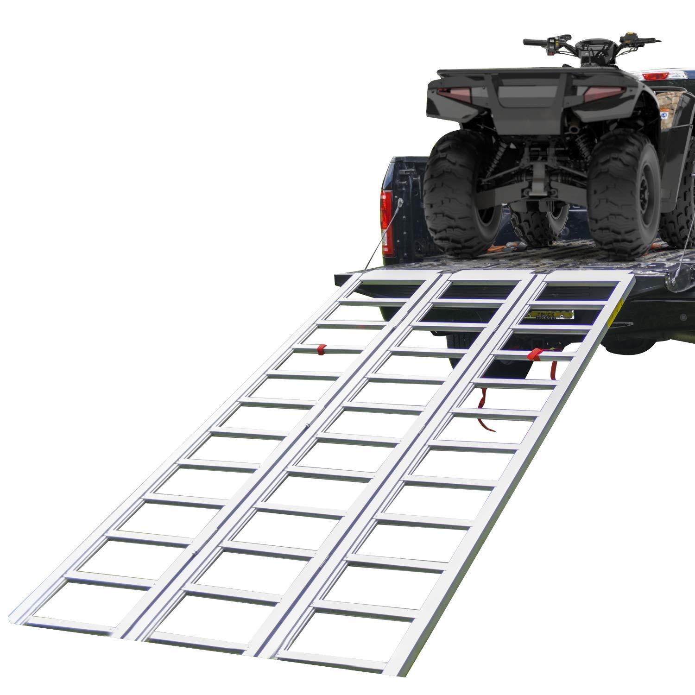1,500 lb Weight Capacity 7 Long Sold as Set EmpireCovers Tri-Panel Aluminum Full-Width ATV//UTV Ramp