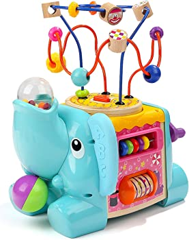 TOP BRIGHT Elephant-Shaped Activity Cube For Babies