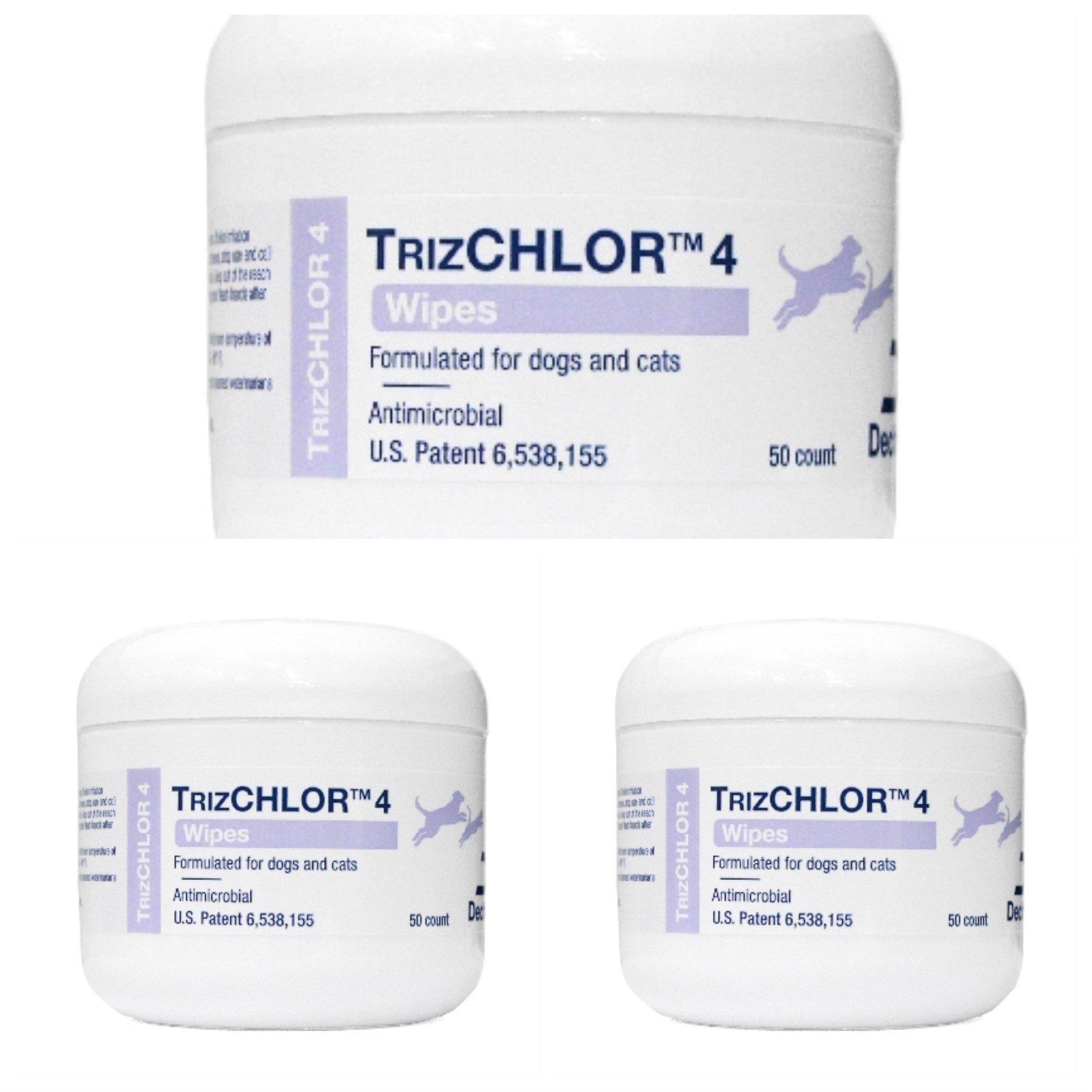 TRIZCHLOR 4 Dechra Pet Wipes, 50 Each, 3 Pack by TRIZCHLOR 4