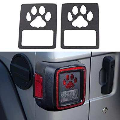 YOUAN Tail Light Cover Rear Lamp Guards Protector for 2020 Jeep Wrangler JL & Unlimited Sport (Pawprint): Automotive