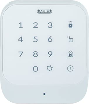 Abus 77444 – Teclado inalámbrico Smartvest para deshabilitar y activar el Sistema de Alarma por Radio   Código o Chip RFID   Pantalla táctil con ...