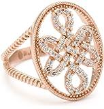 "Freida Rothman ""Blush"" Collection Rose Love Knot Signet Ring"