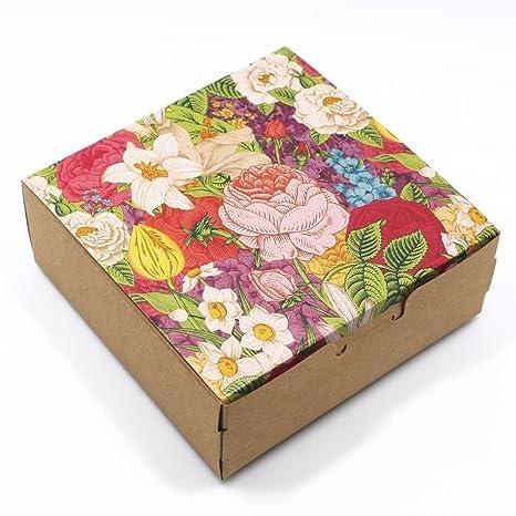 Cajas decorativas rectangulares cuadradas de papel kraft de 14,96 milímetros de grosor para joyería