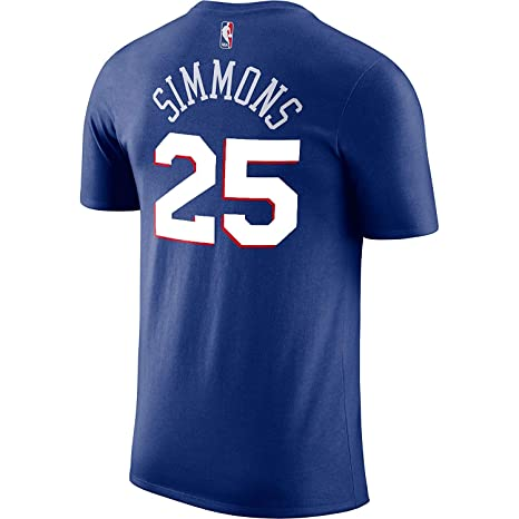 Outerstuff Ben Simmons Philadelphia 76ers Blue  25 Youth Performance Name    Number Shirt (Small 14b8f2a52