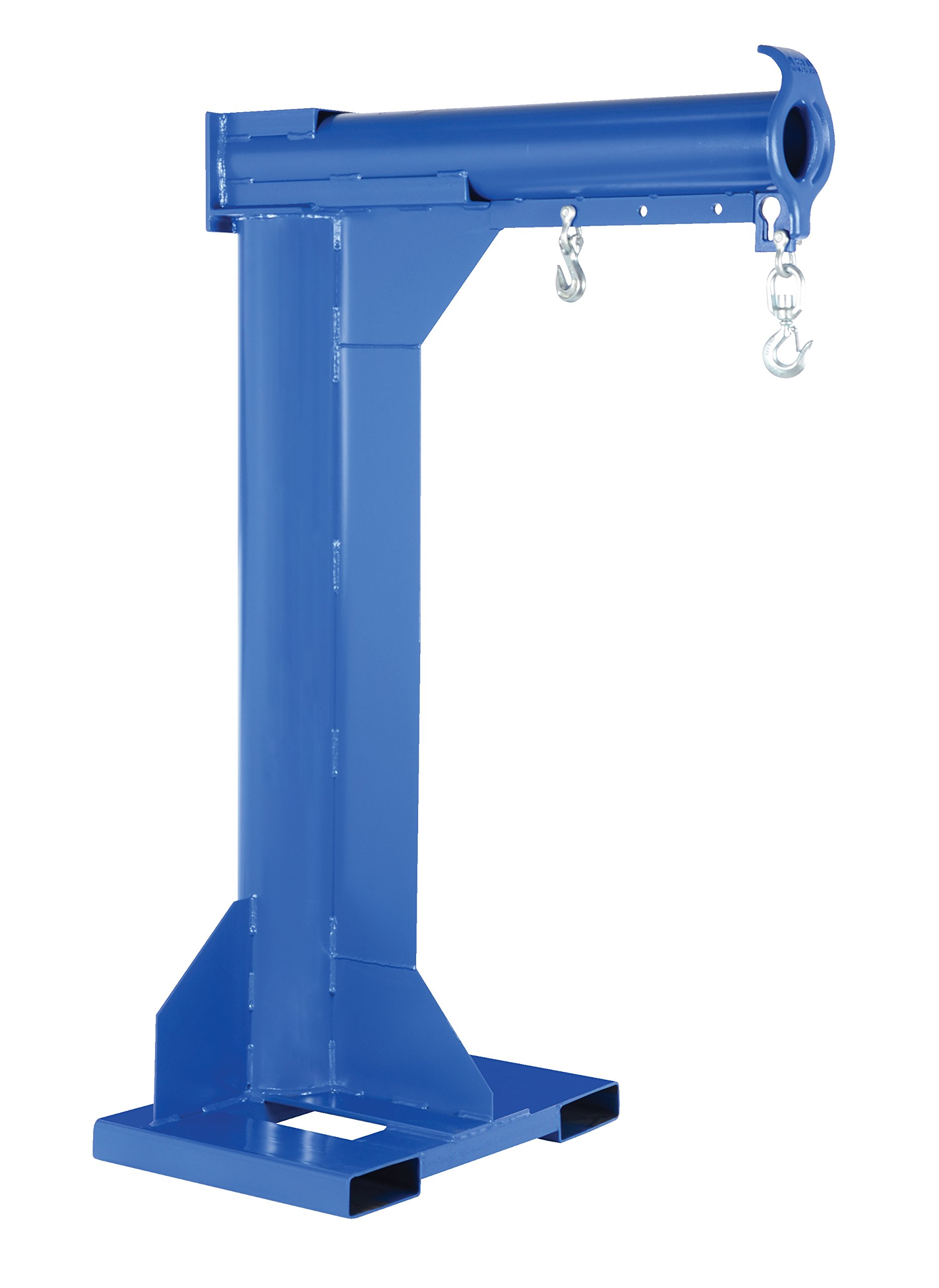 "Vestil LM-HRNT-4-30 Steel Non-Telescoping High Rise Boom, 4000 lb Capacity, 30"" Fork Pocket Center, Overall LxWxH (in.) 38 x 50.375 x 78.5625, Overall Extended Length (in.) 50-3/8, Blue"