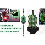 Sirio Bull Trucker 3000 3/8 3500W CB & 10M Mobile Antenna with Shaft - Green LED!