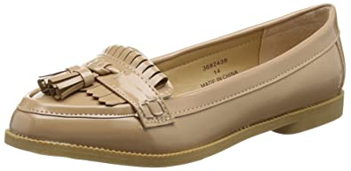 Kub, Mocassins Femme - Beige - Beige (14/Oatmeal)-36 (3 UK)New Look