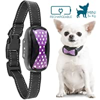 GoodBoy Small Rechargeable Dog Bark Collar for Tiny to Medium Dogs Weatherproof and Vibrating Anti Bark Training Device That is Smallest and Most Safe On Amazon - No Shock No Spiky Prongs! (3+ kg)
