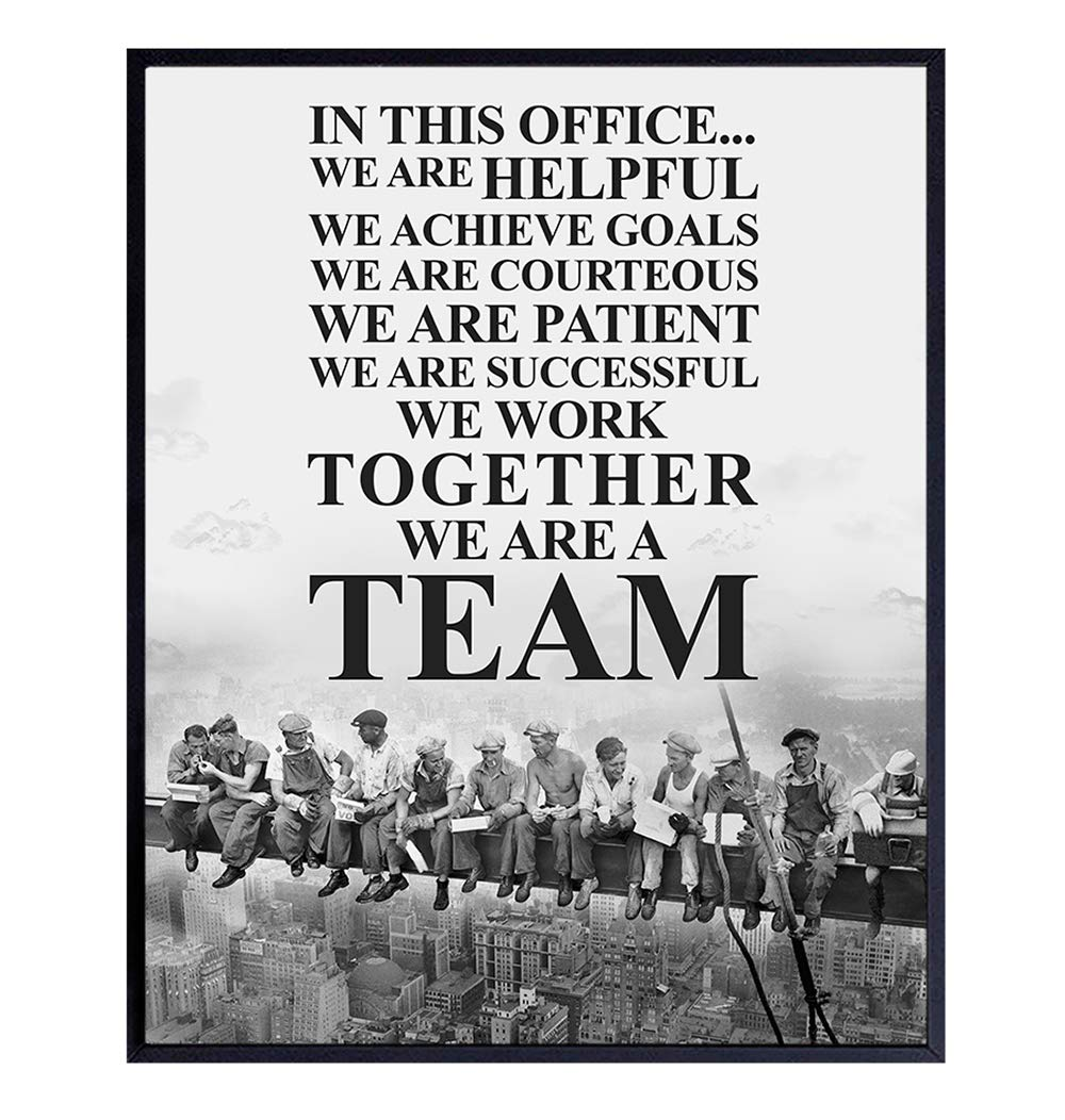 Teamwork Motivational Quote, Office Decor – 8x10 Vintage Photo, Inspirational Poster - Unique Unframed Leadership Picture - Gift for Team Leaders, Managers, Boss - Corporate Wall Art Decoration Poster