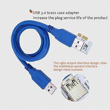 Amazon.com: Junda 008S último cable PCI-E Express 1 X a 16 X ...