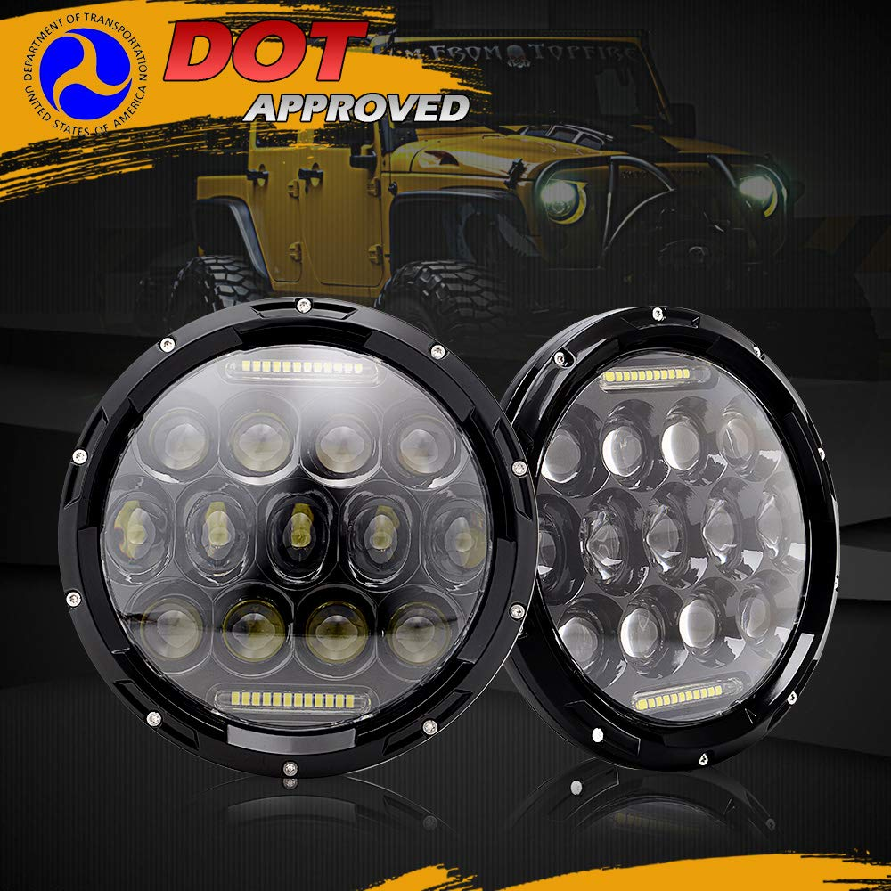 AUSI DOT Approved Pair 7 Led Round Headlights Hi//Lo Beam DRL Projector Headlamps Pair 4 Front Bumper Led Fog Lights For 2007-2017 Jeep Wrangler JK Rubicon JKU Sahara Sport Unlimited Willys 4333011686