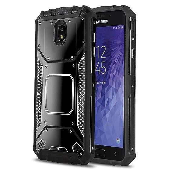the best attitude b2060 78b8b Phone Case for [Samsung Galaxy J7 Star (T-Mobile, MetroPCS)], [Alloy  Series][Black] Aluminium [Metal Plate] Military Grade Heavy Duty Cover for  ...