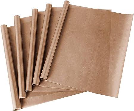 ss shovan Papel de Horno, Reutilizable Paquete de 5 Hojas de ...