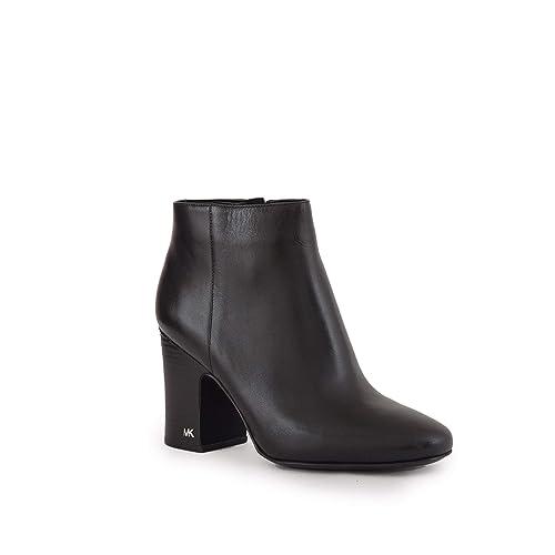 Michael Kors Botines de tacón Botas Mujer en Piel Elaine Negro: Amazon.es: Zapatos y complementos