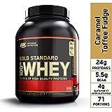 Optimum Nutrition Gold Standard 100% Whey Protein Powder, Caramel Toffee Fudge, 2.27 Kilograms