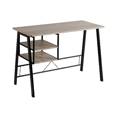 Mesa de Escritorio - Modelo ANDEA - Color Roble/Negro - Material ...