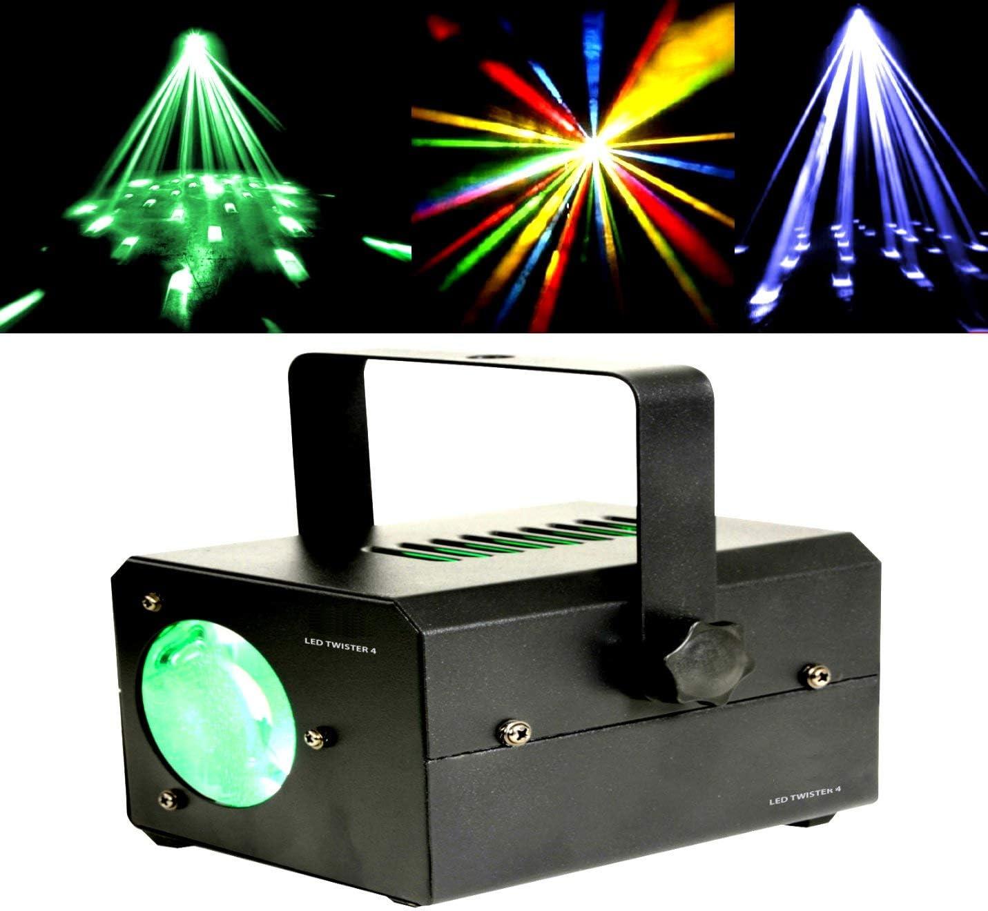 Efecto luz LED Moonflower Twister rojo verde azul 15 W proyector ...